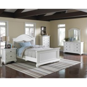 Addison White Bedroom Set (Choose Size) - Sam\'s Club