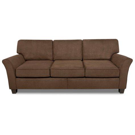Lindsay Three Cushion Sofa - Chocolate