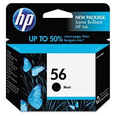 HP 56, (C6656AN) Black Original Ink Cartridge