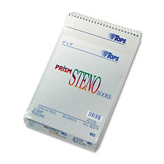 TOPS - Spiral Steno Notebook, Gregg Rule, 6 x 9, Gray -  4 80-Sheet Pads/Pack