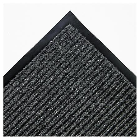 Crown Needle Rib Wipe & Scrape Indoor Mat, Gray (3' x 5')