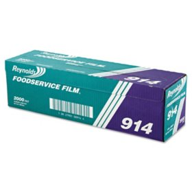 "Reynolds Wrap PVC Film Roll with Cutter Box, 18"" x 2000', Clear"