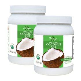 Tresomega Nutrition Organic Refined Coconut Oil (54 oz., 2 pk.)