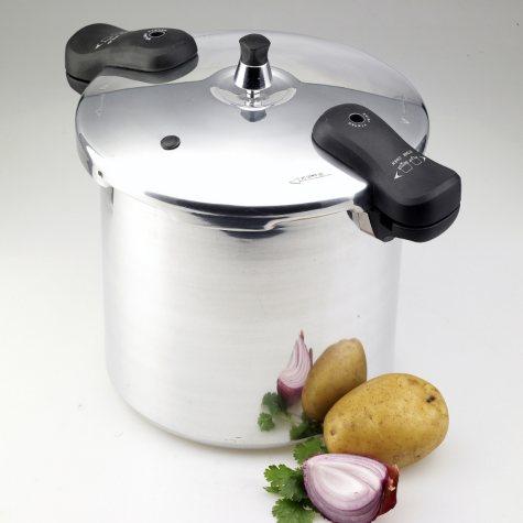 12 Qt. Polished Aluminum Pressure Cooker