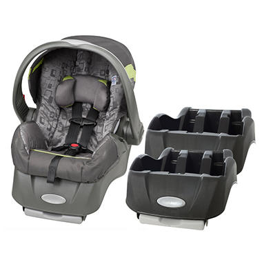 Evenflo Embrace Infant Car Seat with Extra Base - Breakout - Free Standard Shipping