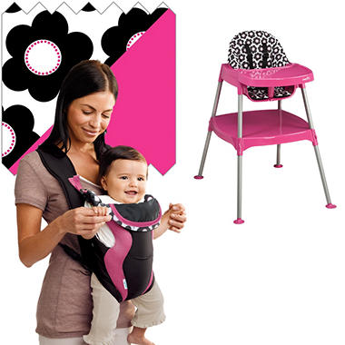 Evenflo High Chair / Soft Carrier Bundle - Marianna - Free Standard Shipping