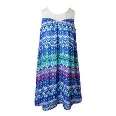 Pink & Violet Trendy Chiffon Jade Multi Dress