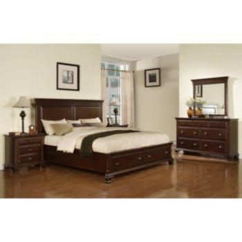 4-Pc. Brinley Cherry Storage Bedroom Set
