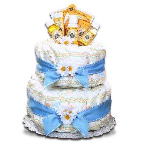 Boy's Burt's Bees Diaper Cake