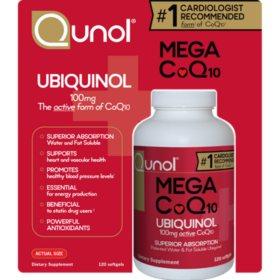 Qunol Mega CoQ10 100 mg (120 Softgels)