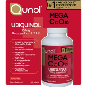 Qunol Mega CoQ10 100 mg (120 Softgels)