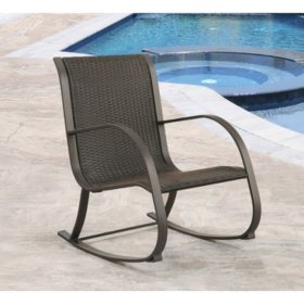 Madison Espresso Wicker Outdoor Rocking Chair