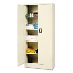 "Alera 66"" 4-Shelf Space Saver Storage Cabinet, Putty"