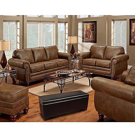 Sedona 4-Piece Living Room Set and 5-Gun Concealment Bench