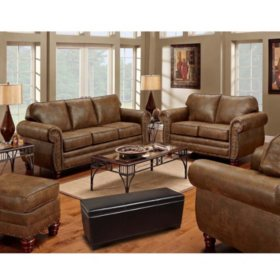 Sedona 4-Piece Living Room Set and 5-Gun Concealment Bench
