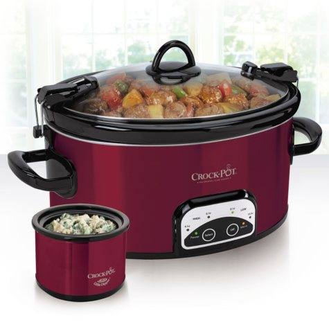 6 Quart Crock Pot with Lil Dipper - Red