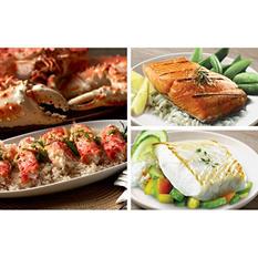 Copper River Seafood Premium Seafood Pack, Halibut (4 lb.), Salmon (3 lb.), Crab (3 lb.)