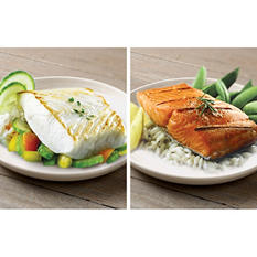 Copper River Seafood Deluxe Pack, Halibut (4 lb.) & Sockeye Salmon (3 lb.)