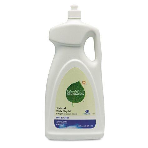 Seventh Generation Natural Dishwashing Liquid, Free & Clear, Jumbo (50oz., 6ct.)