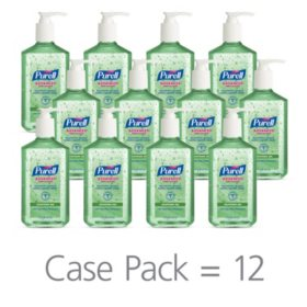 Purell Instant Hand Sanitizer with Aloe, Pump Bottle (12 oz., 12 pk.)