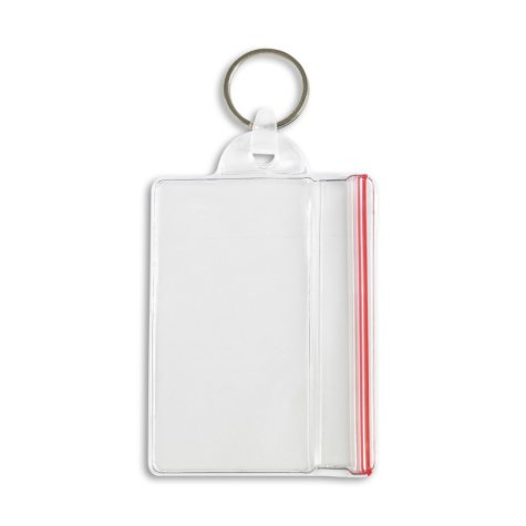 IDVille Sealable Vertical with Key Ring Attachment, 50 Pack