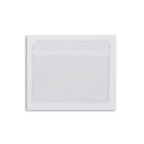 IDVille Clear Bar Horizontal Badge Holder, 50 Pack