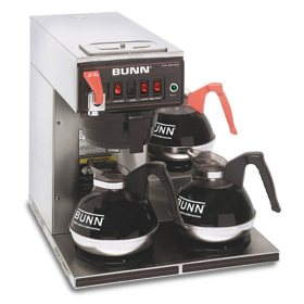 BUNN CWTF15 12 Cup Automatic Commercial Coffee Maker with 3 Warmers