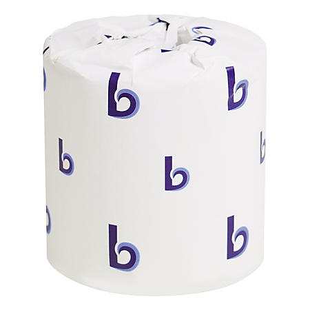 "Boardwalk Two-Ply Toilet Tissue, Septic Safe, White, 4.5"" x 3"" (500 sheets/roll, 96 rolls)"