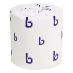 """Boardwalk Two-Ply Toilet Tissue, Septic Safe, White, 4.5"""" x 3"""" (500 sheets/roll, 96 rolls)"""