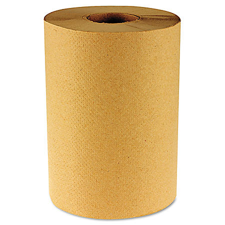 Boardwalk Economy Hardwound Brown Paper Towels, 1-Ply (800', 6 Rolls)