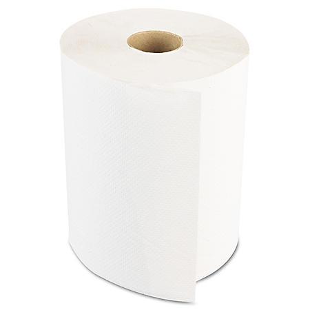 Boardwalk - Economy Hardwound Paper Towels, 1-Ply, 350 ft - 12 Rolls