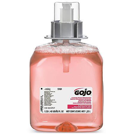 GOJO FMX-12 Luxury Foam Handwash, Cranberry Scent, EcoLogo Certified 1250mL Foam Soap Refill for GOJO FMX-12 Push-Style Dispenser – 5161-03