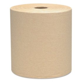 "Scott Essential Hard Roll Towels, 1.5"" Core, 8"" x 800', Natural (12 rolls)"