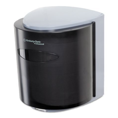 Kimberly-Clark Professional - Roll Control C-Pull Dispenser, 10 3/10w x 9 3/10d x 11 9/10h -  Smoke/Gray