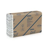 """Scott Essential C-Fold Towels, Absorbency Pockets, 10 1/8"""" x 13 3/20"""", White (2400 ct.)"""