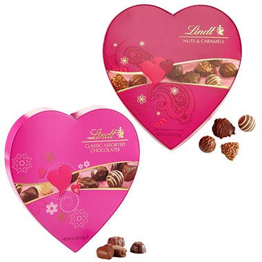 Lindt Valentine\'s Day Boxed Chocolate Hearts, Assorted (4.9 oz., 2 ...