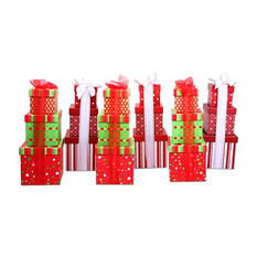 2-Tier Holiday Treats Gift Towers (Set of 3)