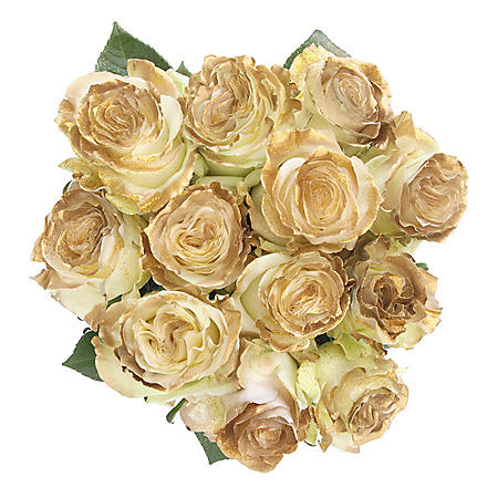 Roses, Fantasy Painted and Glitter Gold (50 stems)
