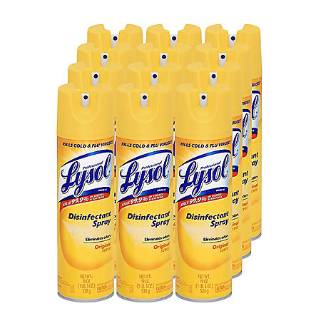 Lysol Disinfectant Spray, Original Scent (19 oz , 12 pk
