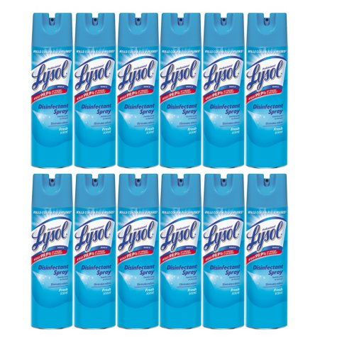 Lysol Disinfectant Spray - Fresh Scent - 19 oz. - 12 pk.