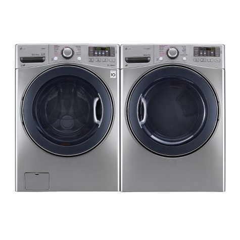 Ultra-Large-Capacity Front-Load Washer with TurboWash and Gas Dryer Bundle - Graphite Steel