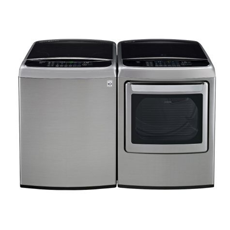 Mega-Capacity Top-Load Washer with TurboWash and Ultra-Capacity Gas Dryer with Steam Technology Bundle - Graphite Steel