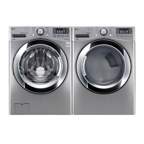Ultra-Large Capacity Front-Load Washer and Dryer Bundle - Graphite Steel