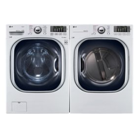 Ultra-Large Capacity Front-Load Washer and Dryer Bundle - White