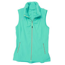 Tangerine Active Stretch Woven Shirring Vest