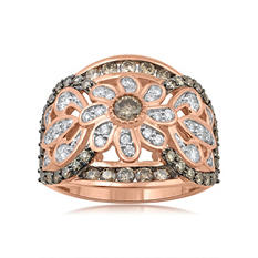 1.50 ct. t.w. Diamond Vintage Ring in Rose Gold