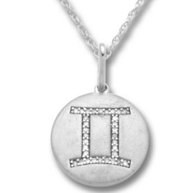 0.10 ct. tw. Diamond Zodiac Sign Pendant