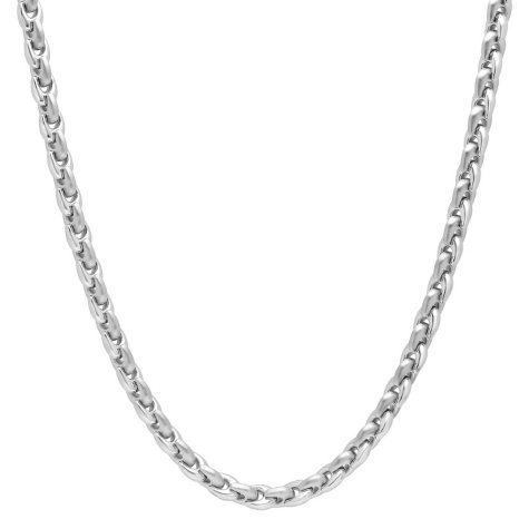 Men's Stainless Steel Horse Shoe Link Chain and Bracelet Set
