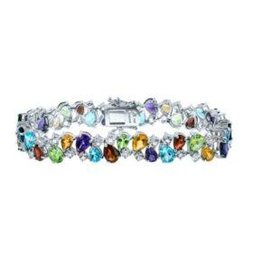 Gem RoManse Multi-Gemstone Bracelet in Sterling Silver