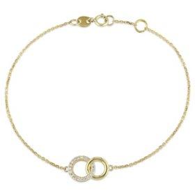 Diamond Link Bracelet in 14K Gold